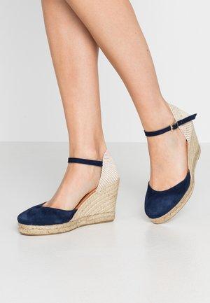 Sandalen met hoge hak - marine