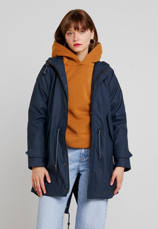 TRAVEL FRIESE CHECK GIRLS - Waterproof jacket - navy