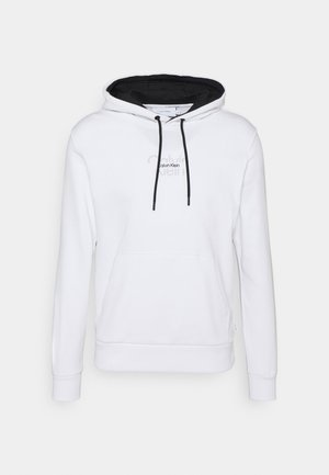 REFLECTIVE CENTER LOGO HOODIE UNISEX - Collegepaita - bright white