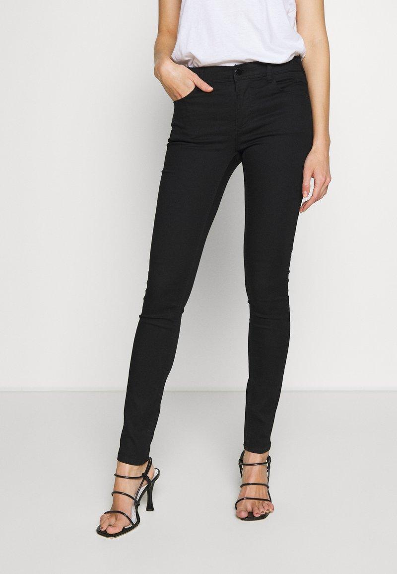 Emporio Armani - 5 POCKETS PANT - Jeans Skinny Fit - black