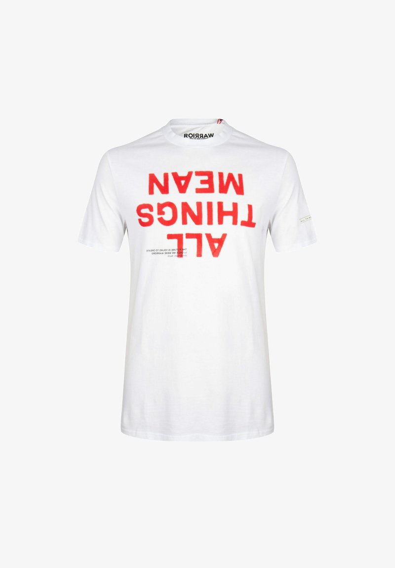 ONCE WE WERE WARRIORS - Print T-shirt - weiss