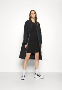Tommy Jeans - TAPE DETAIL LONGSLEEVE DRESS - Jersey dress - black - 1