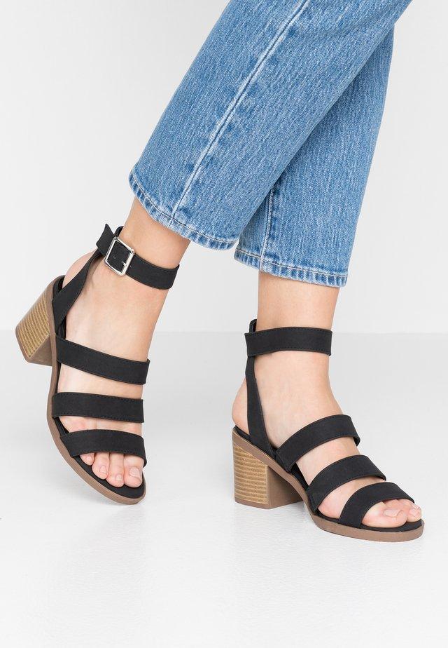 HARRIS STACK HEEL - Sandals - black