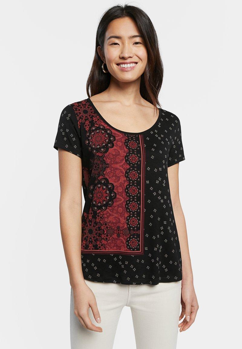 Desigual - T-shirt imprimé - black