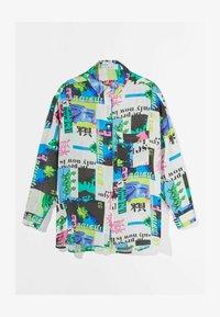 Bershka - MIT PRINT  - Button-down blouse - stone - 4