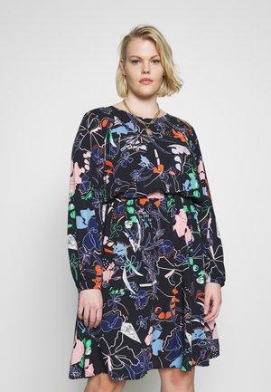 ELASTICATED WAIST DRESS - Day dress - navy blue