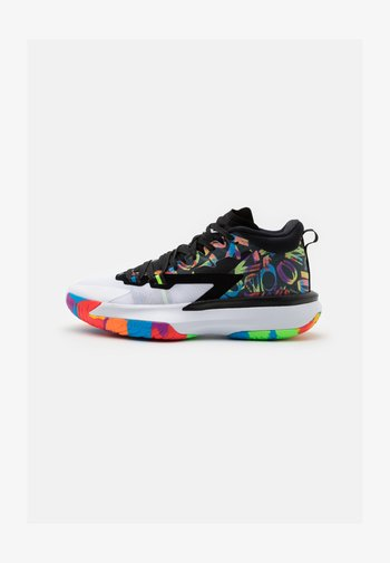 ZION 1 - Basketball shoes - black/white/bright crimson/amarillo/blue hero/hyper violet