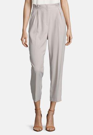MIT BUNDFALTEN - Trousers - gray beige