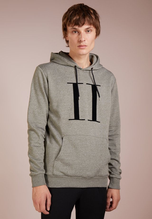 ENCORE HOODIE - Sweat à capuche - stone gray/black