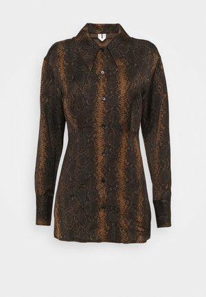 Button-down blouse - brown medium dusty