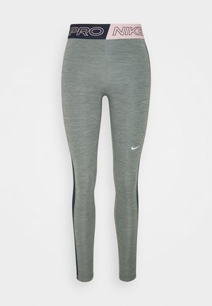 Leggings - smoke grey heather/obsidian/white