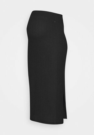 SKIRT CRINCLE - Pencil skirt - black