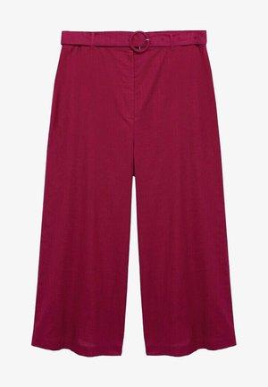 SLUB - Trousers - kirschrot