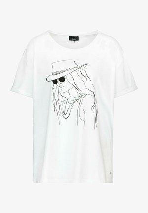MIT PRINT - Print T-shirt - weiß