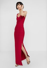 Hervé Léger - ICON-GOWN WITH SIDE SLIT - Abito da sera - rogue - 0