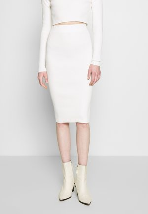 MID SKIRT - Pencil skirt - off white