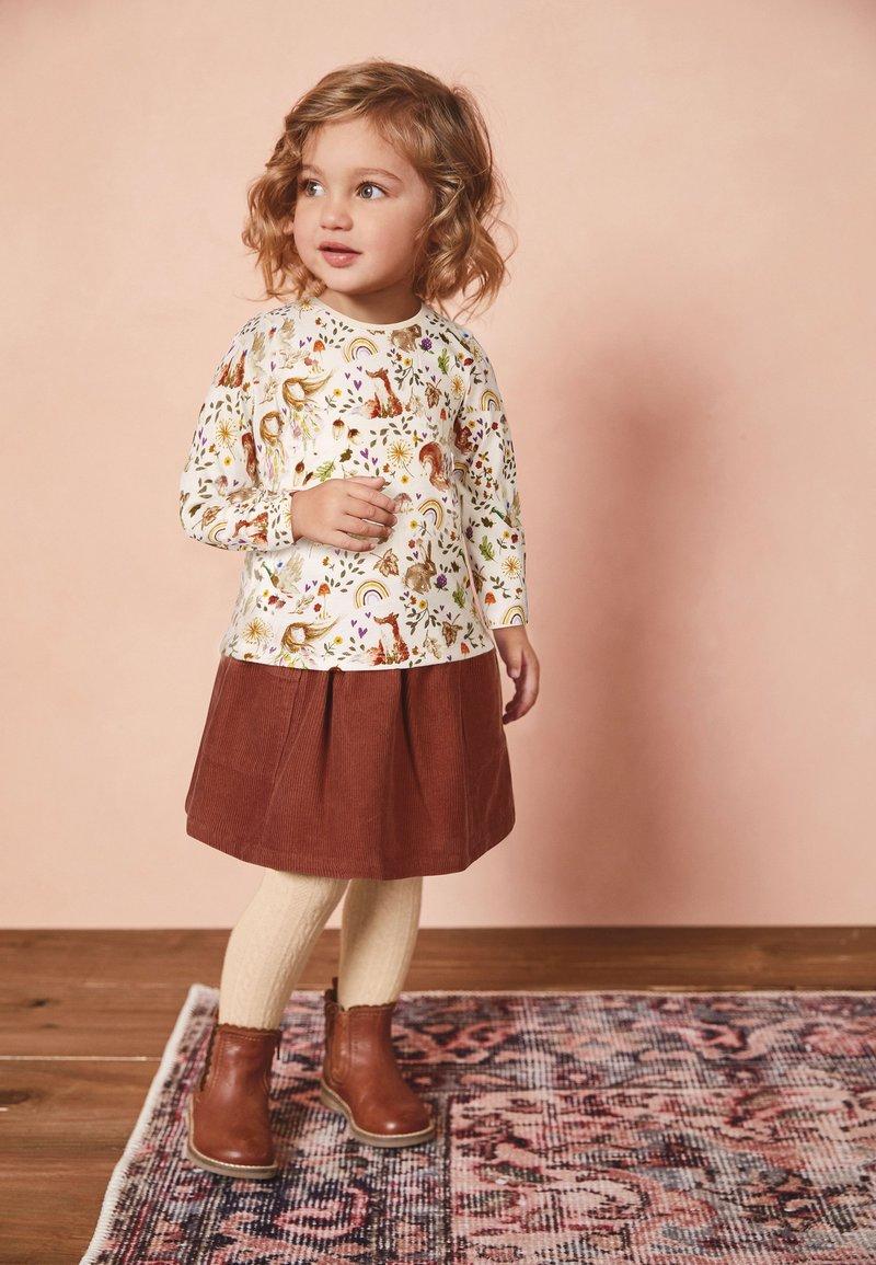 Next - A-line skirt - brown