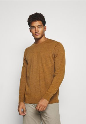 MENS SHEARER CREWE  - Jumper - saffron