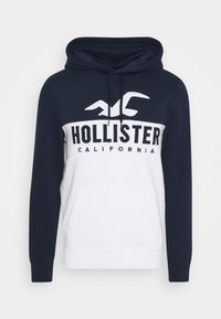Hollister Co. - TECH LOGO SPLICE - Hoodie - white/navy - 3