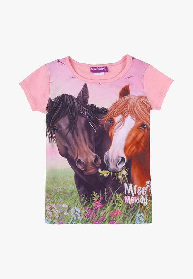 T-shirt con stampa - candy pink