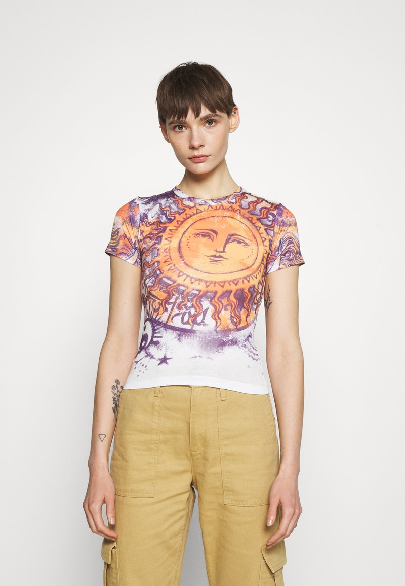BDG Urban Outfitters - BIG SUN BABY TEE - T-shirts med print - white