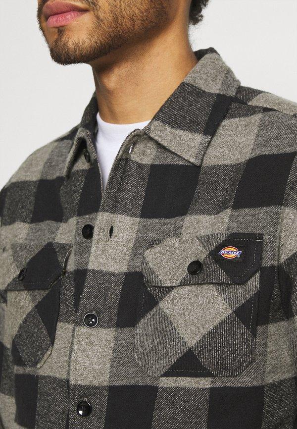 Dickies NEW SACRAMENTO - Koszula - grey melange/jasnoszary melanż Odzież Męska KYMT