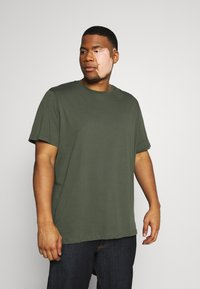 Pier One - 3 PACK - Basic T-shirt - khak/ grey /black - 2