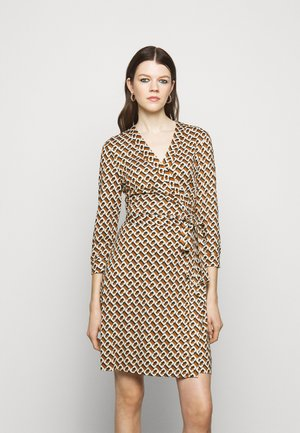 NEW JULIAN BANDED - Day dress - caffe