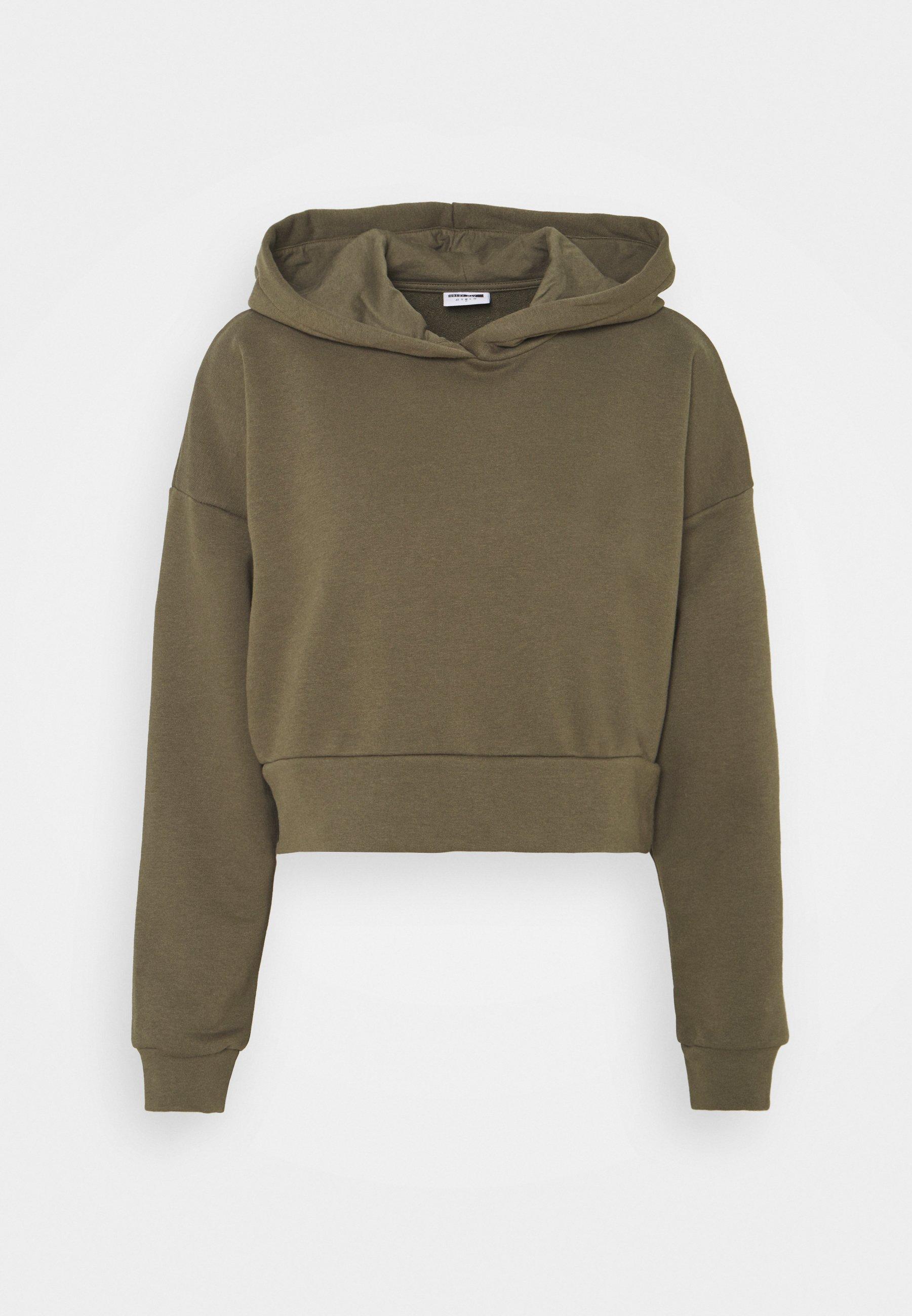Women NMLUPA CROP HOOD - Sweatshirt