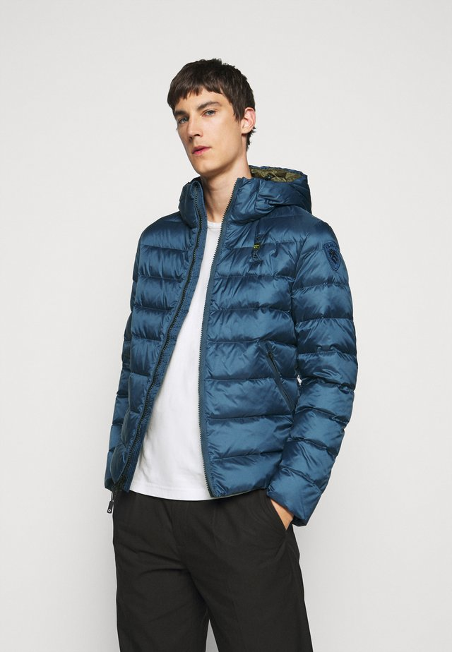 GIUBBINI CORTI IMBOTTITO - Down jacket - navy blue/dark olive