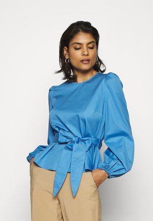 WITH PEPLUM - Blusa - sea blue