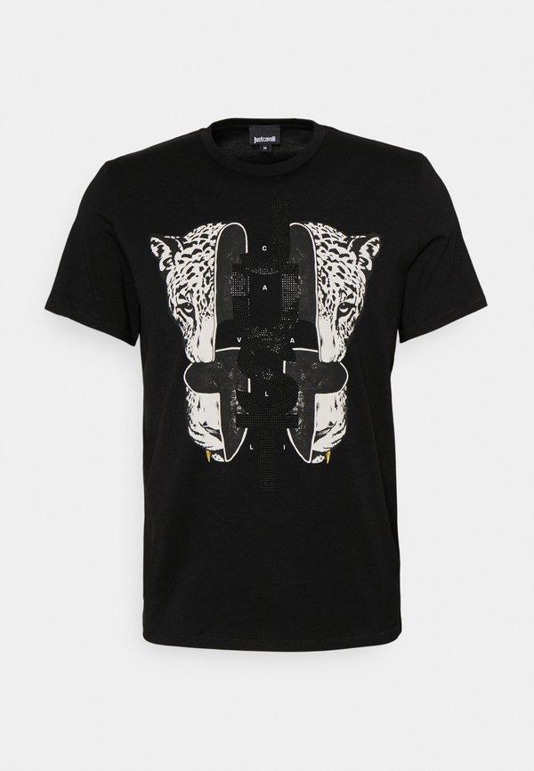 Just Cavalli T-shirt z nadrukiem - black/czarny Odzież Męska GUYQ