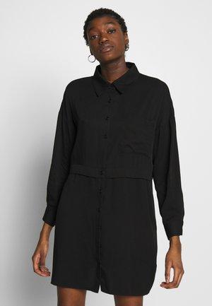 UTILITY DRESS - Košilové šaty - black