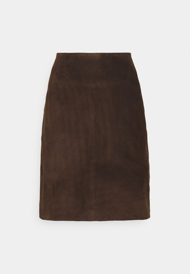 SKIRT - Áčková sukně - chocolate