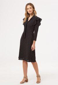 Sugarhill Brighton - LEILANI PETAL - Day dress - black - 1