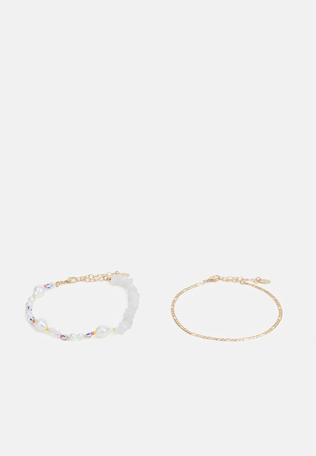 MIXED BEAD ANKLET 2 PACK - Muut asusteet - gold-coloured