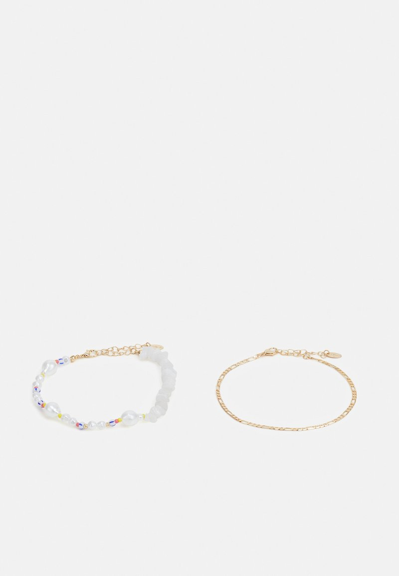 LIARS & LOVERS - MIXED BEAD ANKLET 2 PACK - Other accessories - gold-coloured