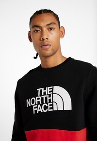 The North Face - CANYONWALL CREW - Sweatshirt - black/red - 4