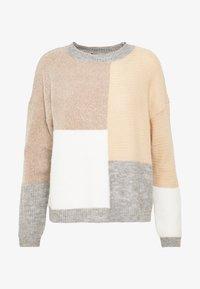 New Look - PATCHWORK JUMPER - Cardigan - cream - 4