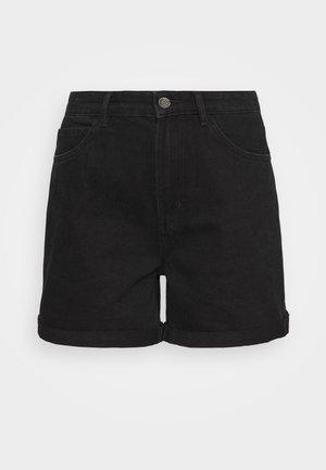 ONLVEGA LIFE MOM - Denim shorts - black denim