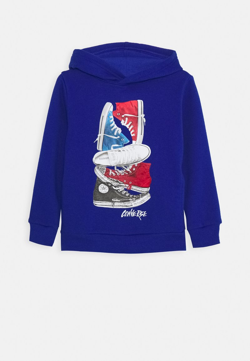 Converse - STACKED REMIX PULL OVER - Hoodie - blue