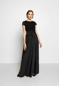 Lauren Ralph Lauren - TAFFETA LONG GOWN COMBO - Společenské šaty - black - 0
