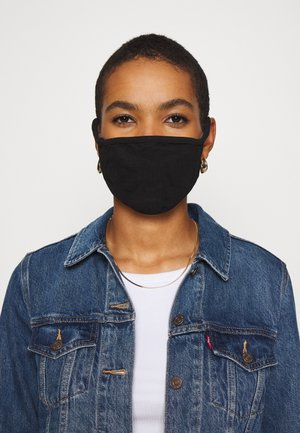2 PACK - Látková maska - black