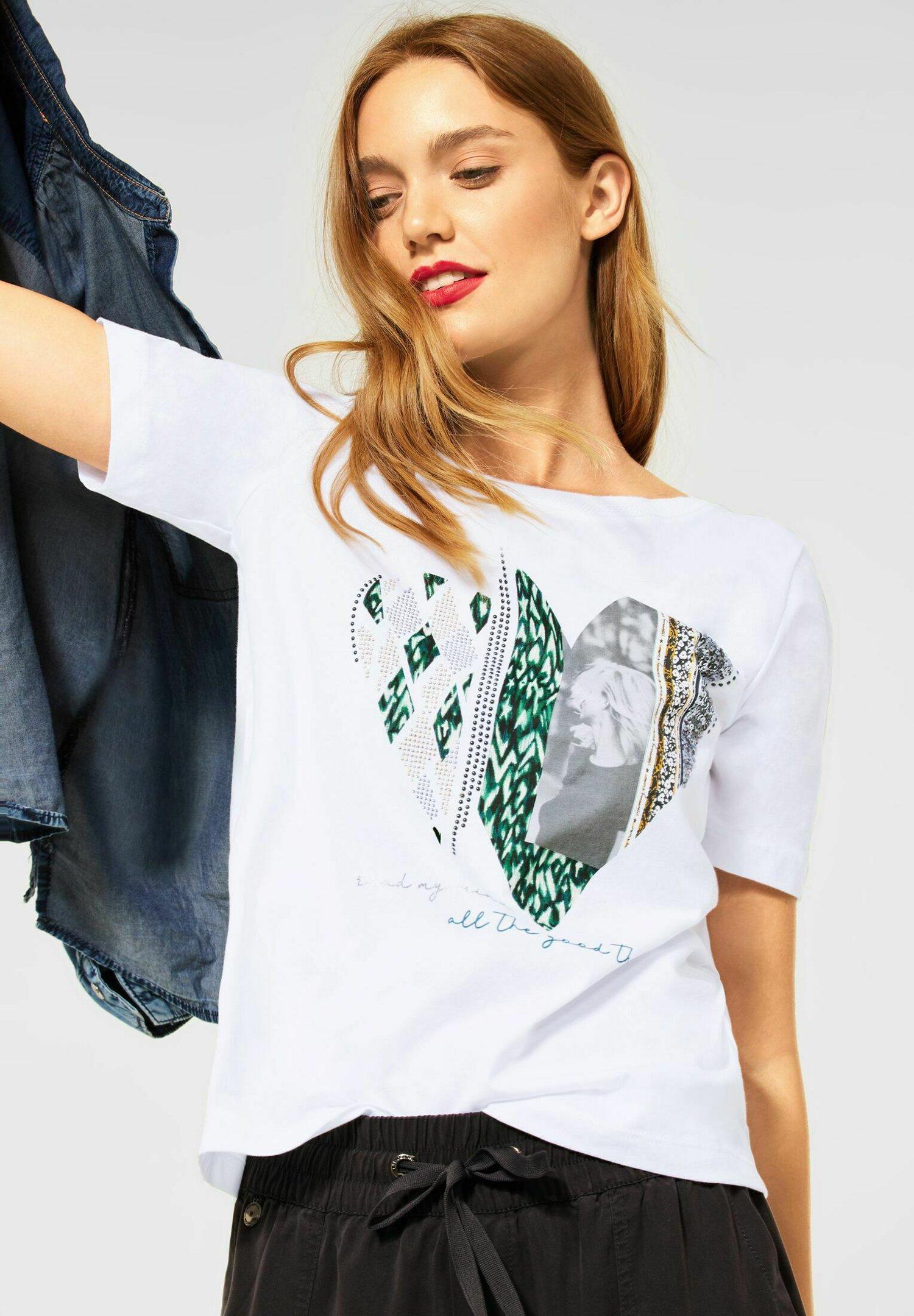Damen MIT PARTPRINT - T-Shirt print