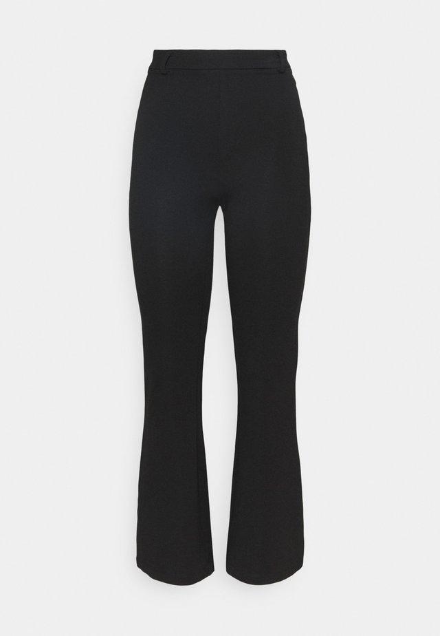 FLARED PUNTO PANTS - Leggings - Trousers - black