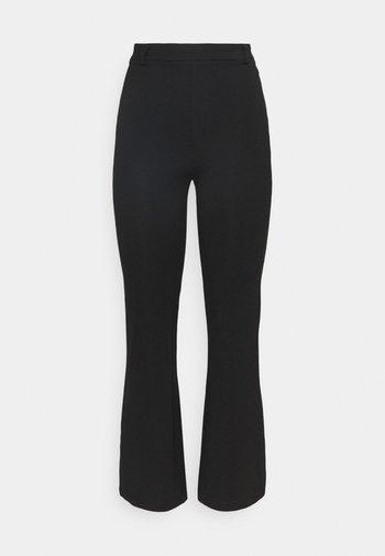 FLARED PUNTO PANTS - Leggings - Trousers - black