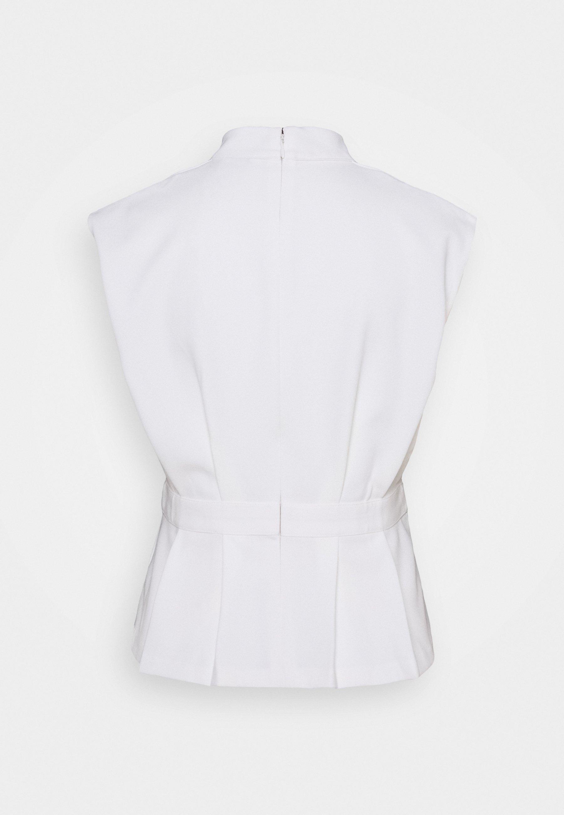 Club Monaco Pleated Waist - T-shirts Med Print Cloud/hvit