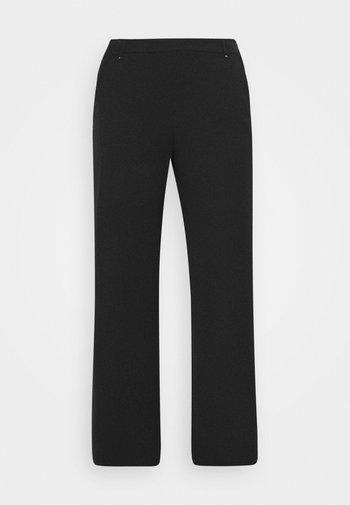 WIDELEG WORKWEAR TROUSER - Trousers - black