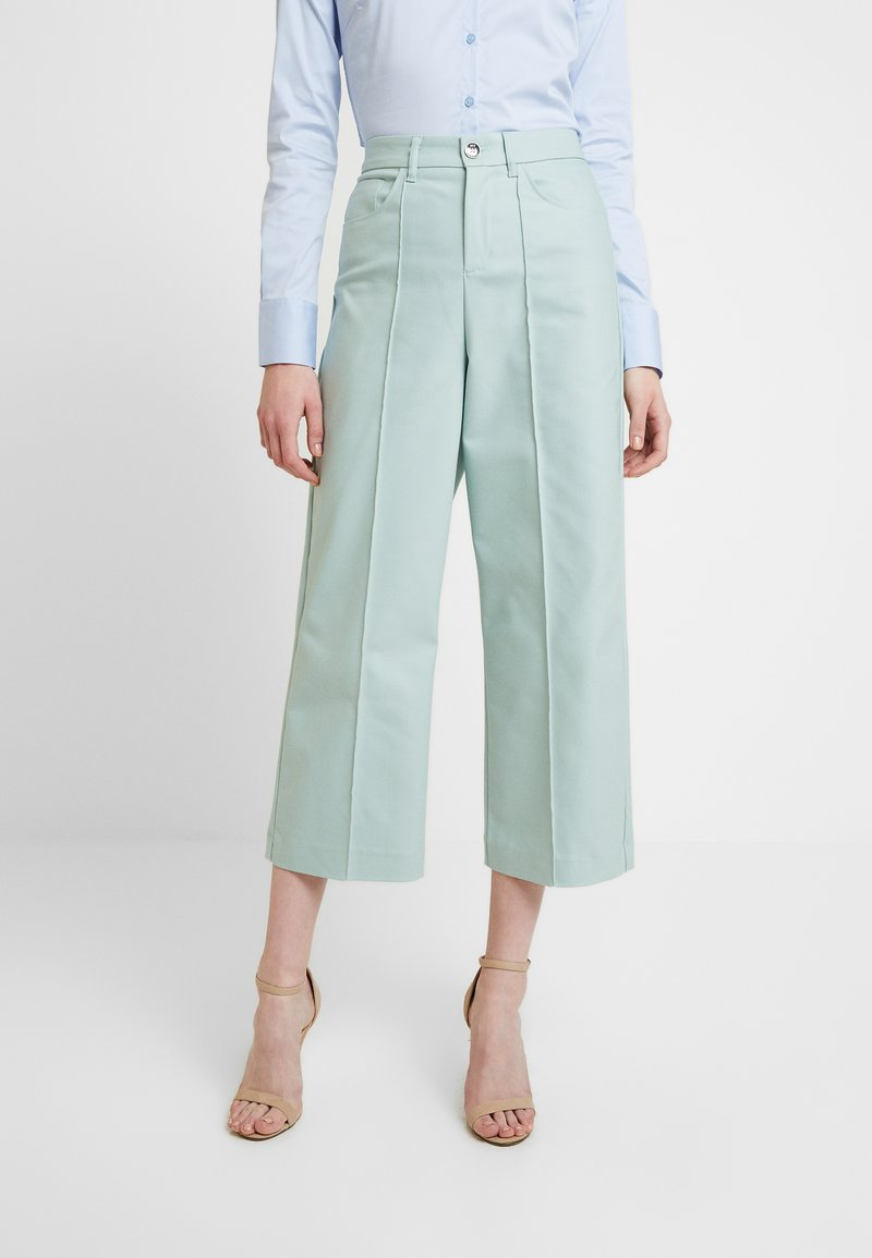 Mos Mosh - NIGHT PANT SUSTAINABLE - Trousers - mint haze