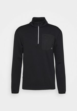 PINNACLE HALF ZIP - Sweat polaire - black